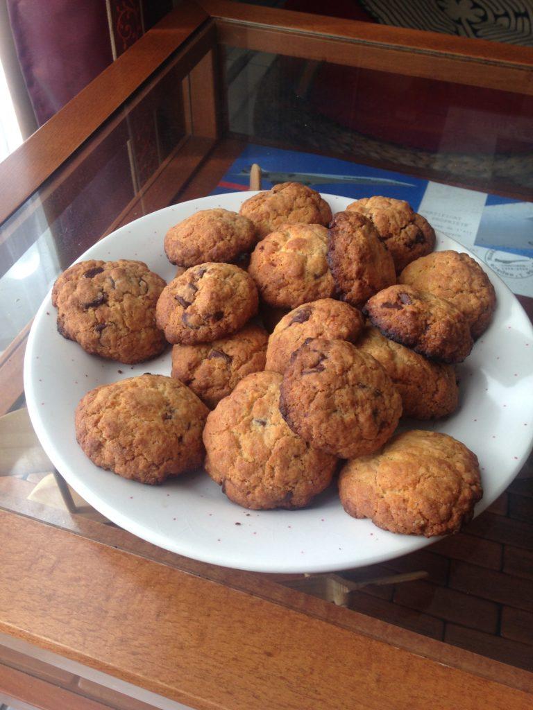 Cookies sur une assiette
