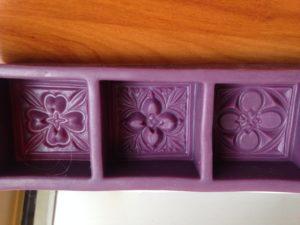 Moule en silicone à motifs seltiques avec 3 compartiments