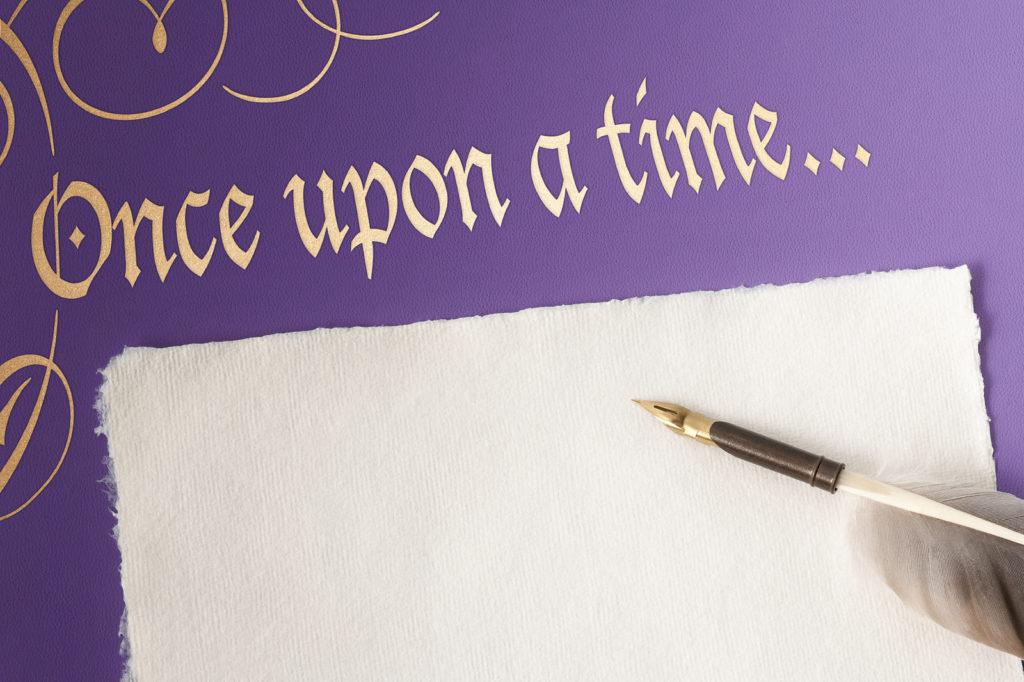 Once upon a time avec plume et parchemin