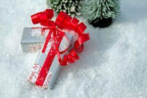 Paquet cadeau rouge