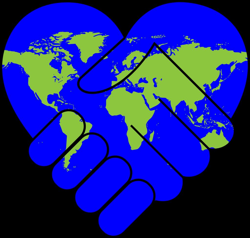 Planète main dans la main