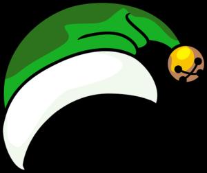 Chapeau de lutin vert et blanc