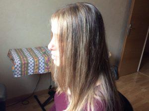Cheveux méchés de Flo