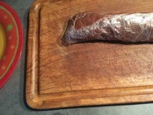 Boudin de pâte brune