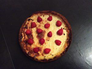 Cheesecake recouvert de fraises