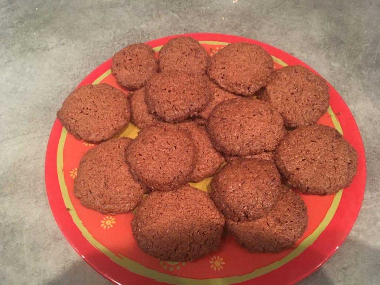 Sablés chocolat noisette