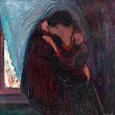 Tableau le baiser, d'Edvard Munch (description à la fin de l'article)