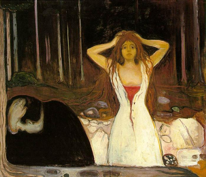 Tableau Cendres, d'Edvard Munch (description à la fin de l'article)